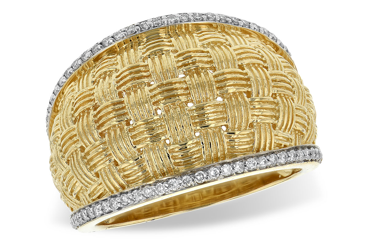 W1923  - 0.24 ct Set In A 14K Yellow Gold Band.    List Price: $2,361      Our Price: $1,888