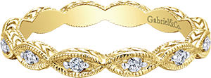 LR4381Y45JJ  – 0.11 ct Set In 14K Yellow Gold.  List Price: $475