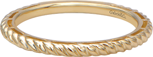 LR4582Y4JJJ  – 14K Yellow Gold Band.  List Price: $285