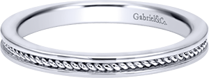 LR5678W4JJJ  – 14K White Gold Band.  List Price: $340
