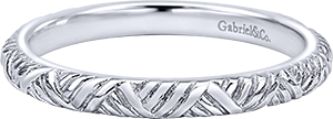 LR5679W4JJJ  – 14K White Gold Band.  List Price: $350