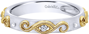LR5706M45JJ  – 0.05 ct Set In 4K White & Yellow Gold.  List Price: $520