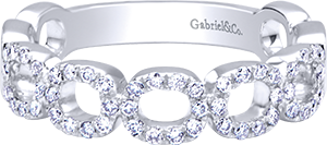 LR6221W45JJ  – 0.26ct Set In 14K White Gold.  List Price: $825