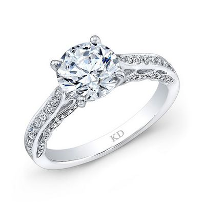 LRD08240  - 18K White Gold.      Call For Pricing
