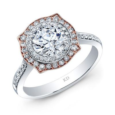 LRD11133  - 0.37 ct Set In 18K White & Rose Gold.    List Price: $2,626      Our Price: $2,099