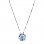 March Birthstone Necklace.  List Price: $130    Our Price: $104