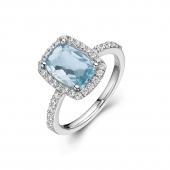Aqua Fashion Ring.    List Price: $255      Our Price: $204