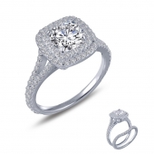 Double Cushion Halo Ring    List Price: $175      Our Price: $140