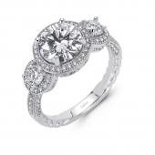 Three Stone Halo Ring.    List Price: $200      Our Price: $160