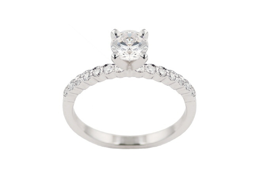 4540E-50  - 0.19 ct Set In 14K White Gold.    List Price: $1,350       Our Price: $1,080 (setting only)