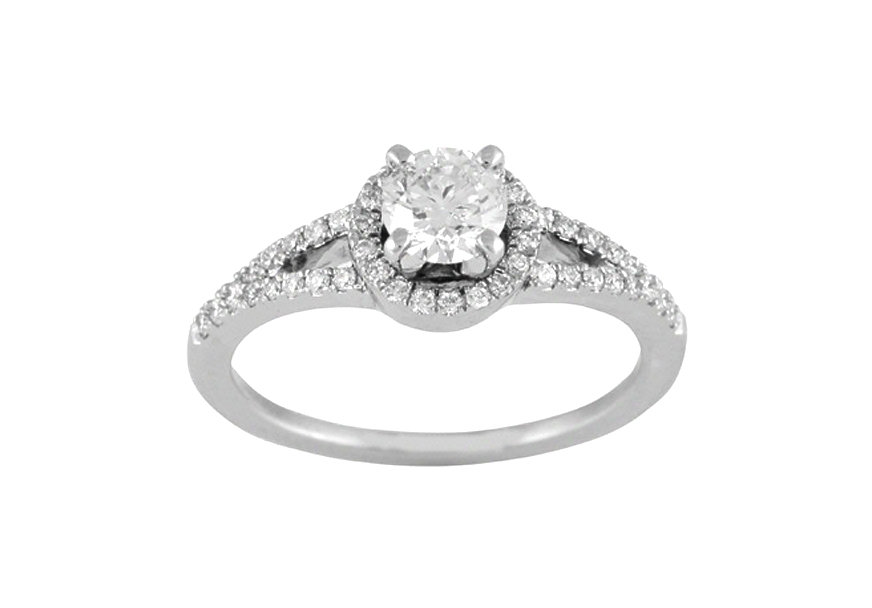 4935  - 0.22 ct Set In 14K White Gold.    List Price: $1,750       Our Price: $1,399