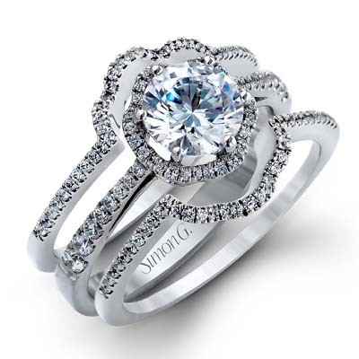 TR468  - 0.44 ct Set In 18K White Gold.    List Price: $3,965       Our Price: $3,172 (for the 3 piece set)