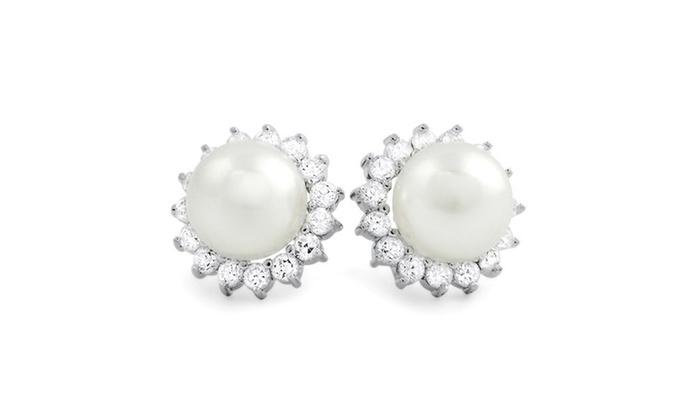 Halo Pearl Earrings.      Price Range Starting At $500