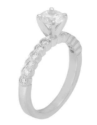 4540E-1CT  - 0.40 ct Set In 14K White Gold.  List Price: $2,450    Our Price: $1,960
