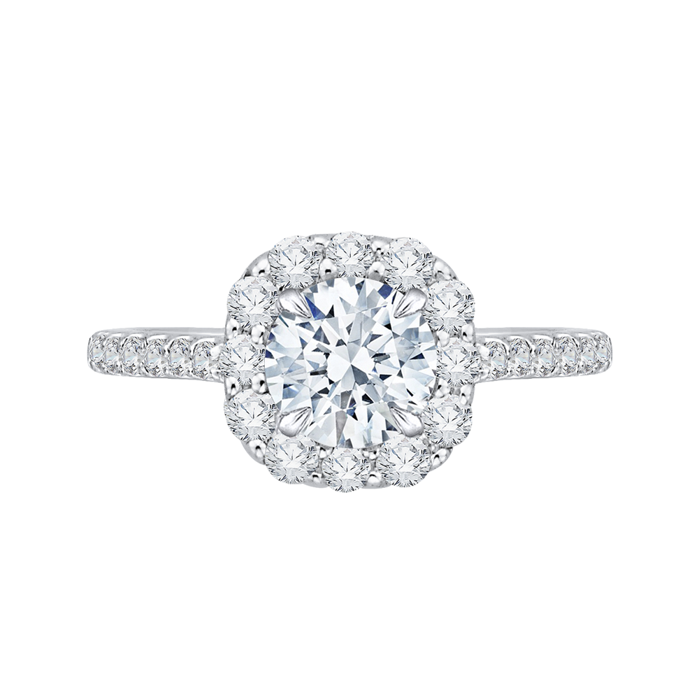 CA0177EHK-37W  - 0.62 ct. Set In 18K White Gold.  List Price: $2,725    Our Price: $2,179