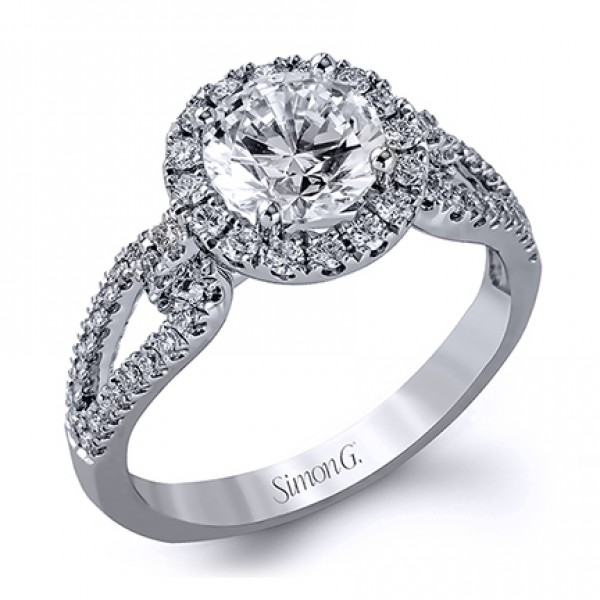 LP2027  - 0.49 ct Set In 18K White Gold.  List Price: $2,970    Our Price: $2,376
