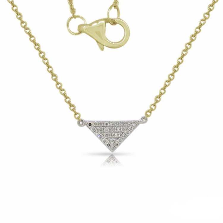 11005N  - 0.08 ct Set In A 14K Yellow Gold Necklace.  List Price: $660    Our Price: $528