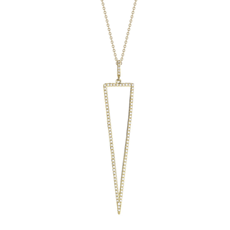P11099  - 0.29 ct Set In A 14K Yellow Gold Necklace.  List Price: $980    Our Price: $784