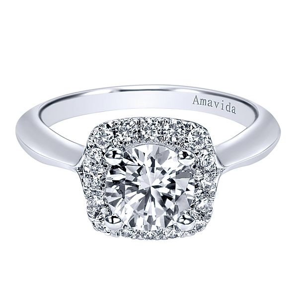 ER11439  – 1.00 CT Center Stone Set In 0.33 ct Setting In A 18K White Gold Band.  List Price: $2,135