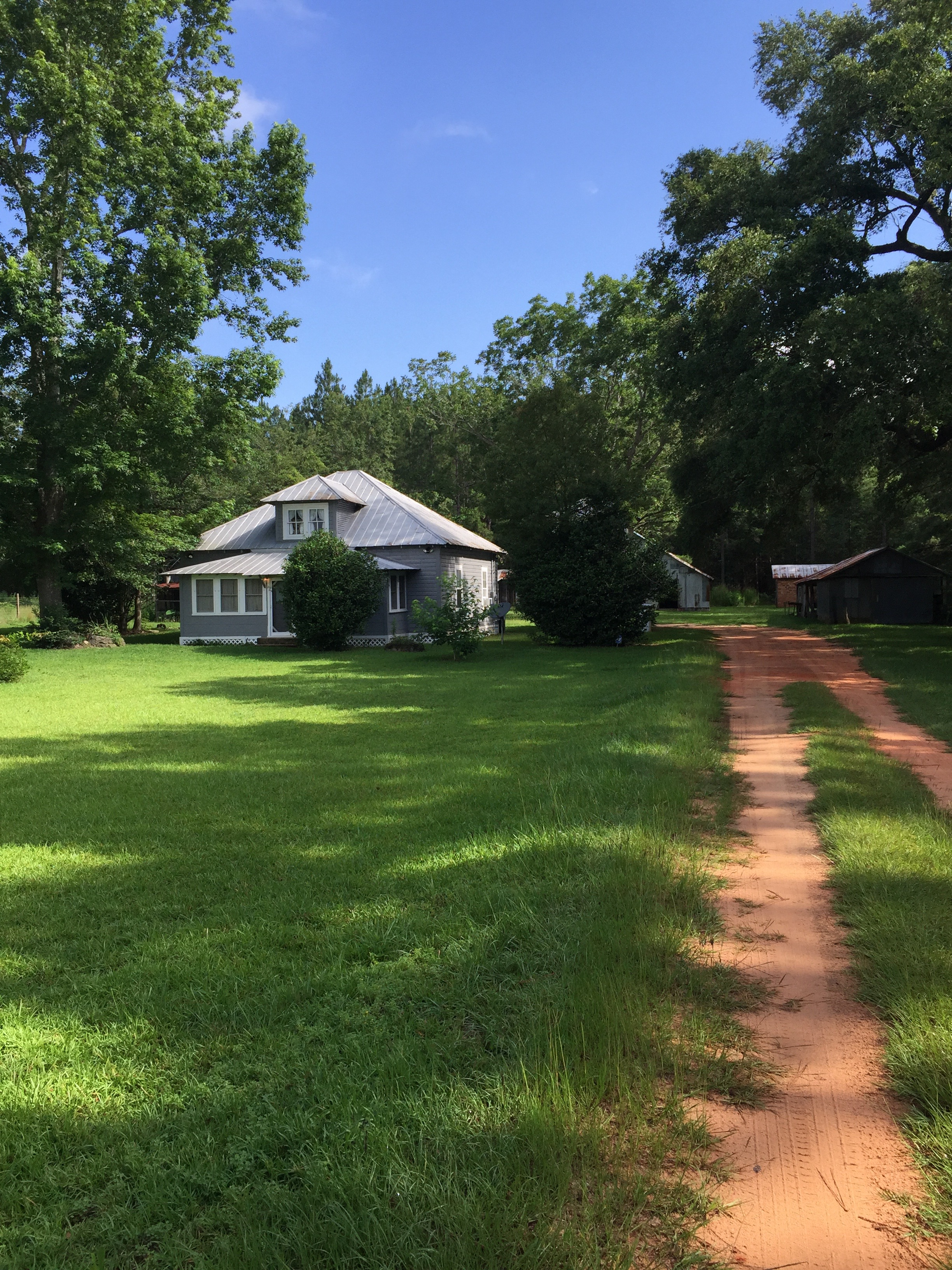 The Family Farmhouse is located in Silverhill, AL and can be rented through these three websites.