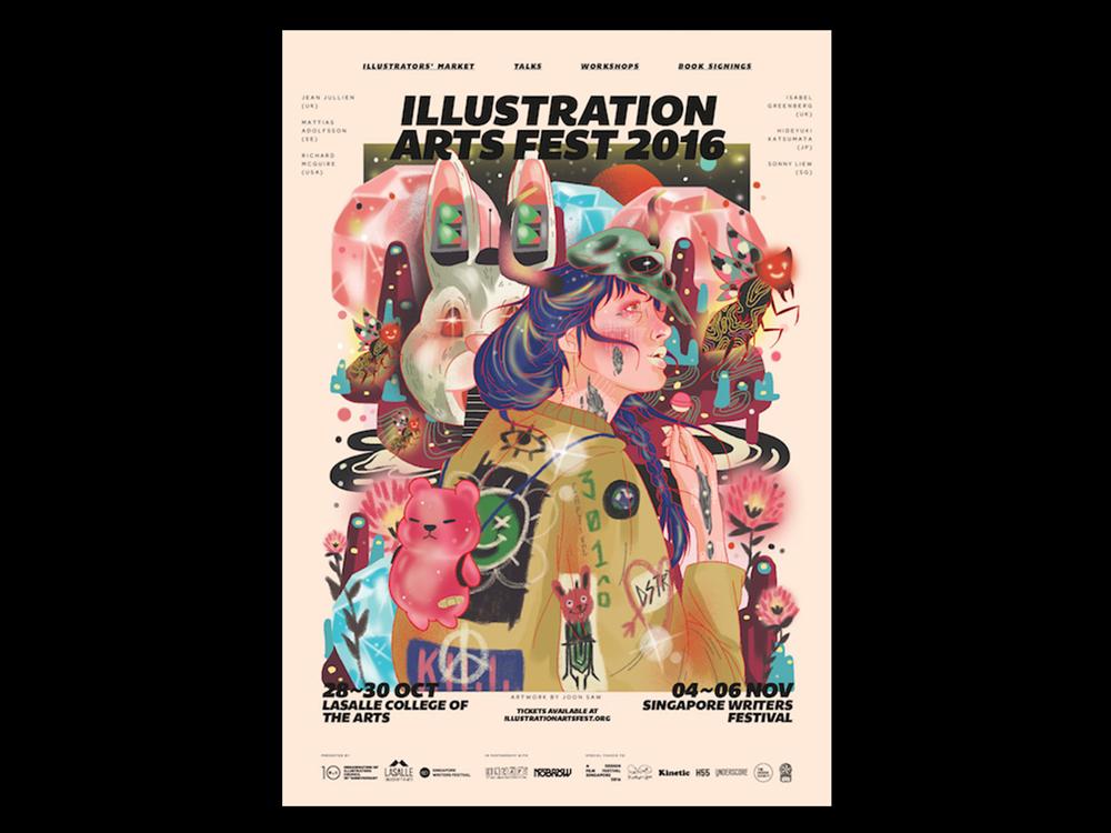 """<div align=""""left""""><small>  Illustration Art Festival 2016, 2017 </small> </div>"""