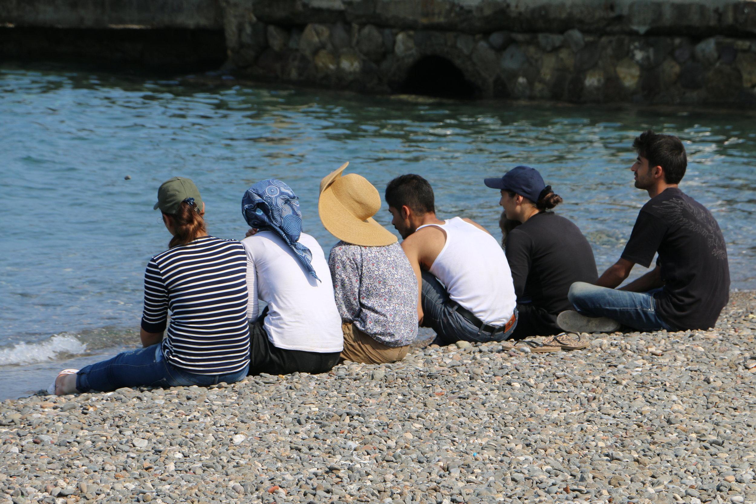 Refugees Looking Back at the Coast of Turkey - Kos Island