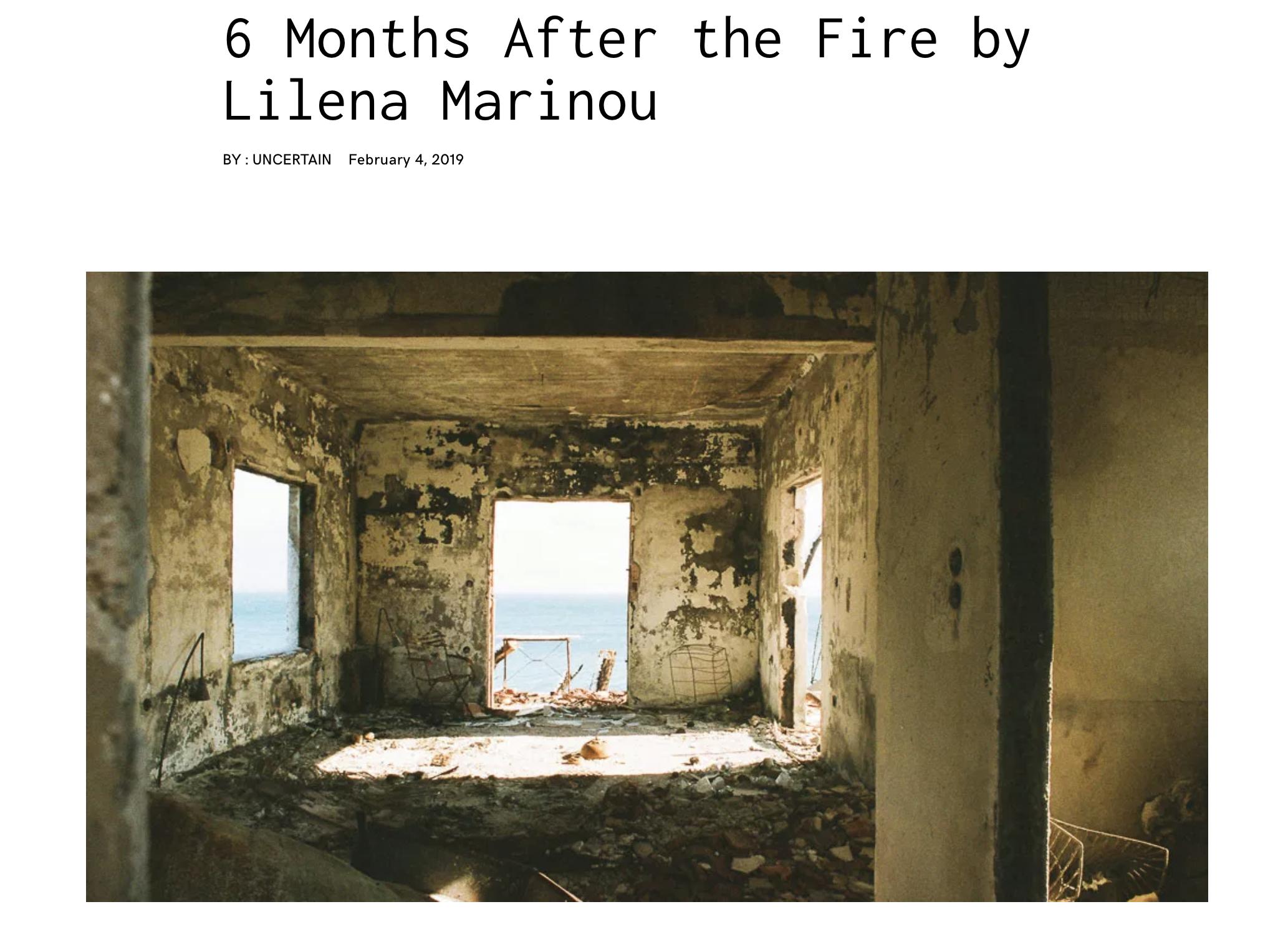 feature on uncertain magazine - Artist Feature