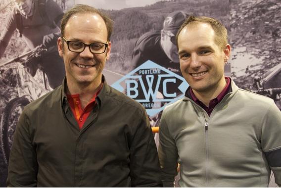 Tony Pereira and Ira Ryan at the 2014 North American Handmade Bicycle Show (Christina Cooke)