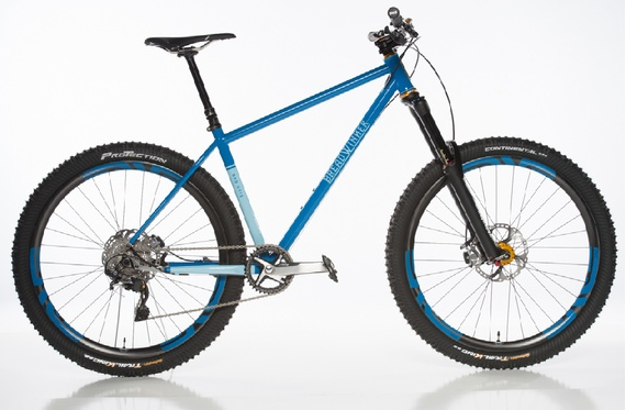 """Breadwinner's Bad Otis, winner of """"Best Mountain Bike,"""" is a hard-tail mountain bike (as opposed to a full suspension) designed for the new """" flow """" style of mountain bike trails, which have a smoother rhythm and deliver a more roller-coaster-type experience than many of the older trails. (© 2014 Weldon Weaver)"""
