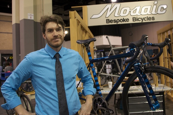 """Aaron Barcheck founded Mosaic Cycles five years ago on the north side of Boulder, Colorado, citing """"creative dissatisfaction"""" with the status quo of the cycling industry. He enjoys making bikes as much as riding them. """"It's like a zen,"""" he says. """"I enjoy it all."""" (Christina Cooke)"""