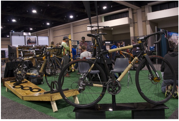 The Fort Collins, Colorado, company  Boo Bicycles produces bamboo-carbon fiber racing bikes by hand. (Christina Cooke)