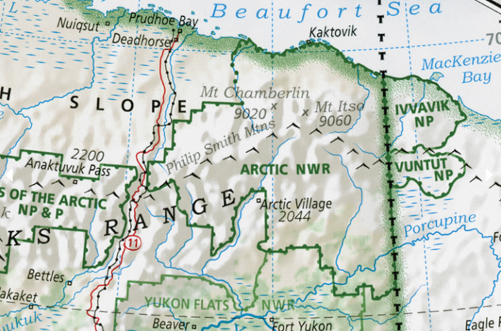 Details include Mount Chamberlin and Anaktuvuk Pass in Alaska.Imus Geographics