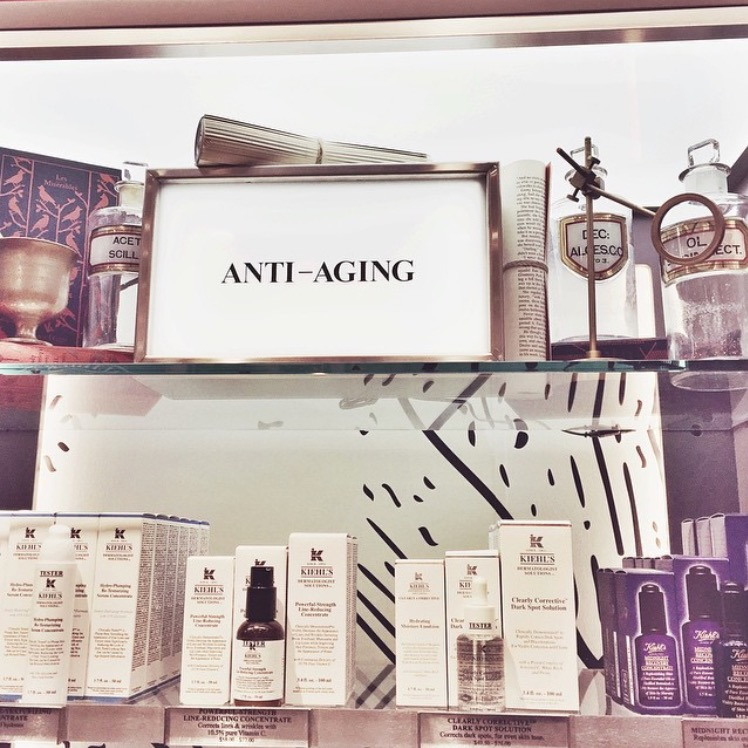 Kiehl's        Worldwide - Antique apothecary glass & trophies