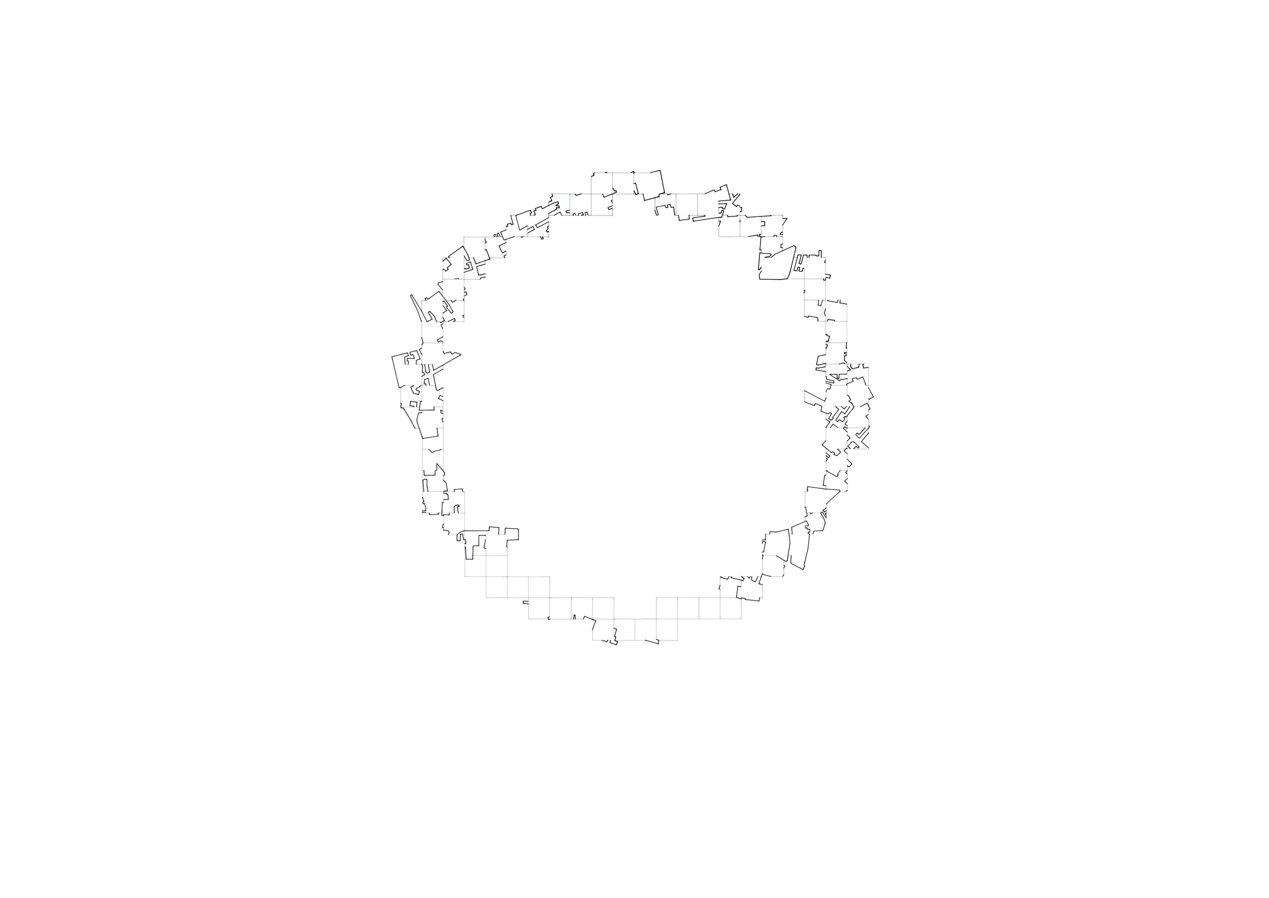 A Circle 1 (2017) - 841 x 594mm, ink on layered film