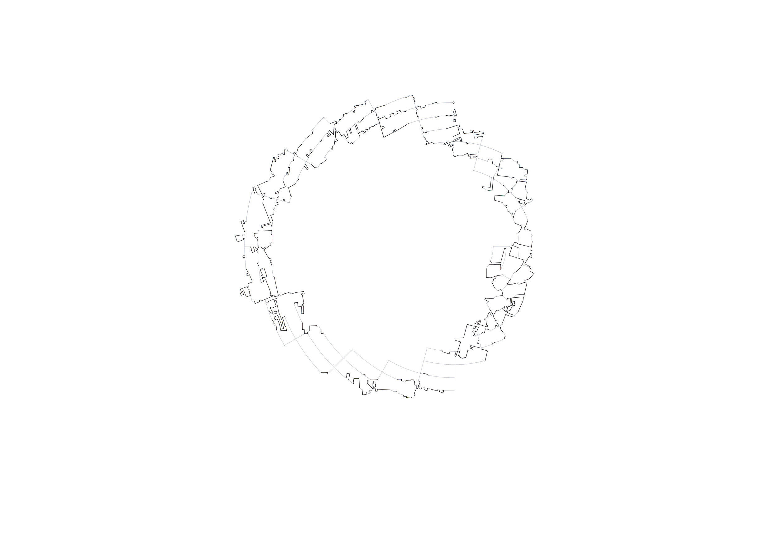 A Circle 2 (2017) - 841 x 594mm, ink on layered film