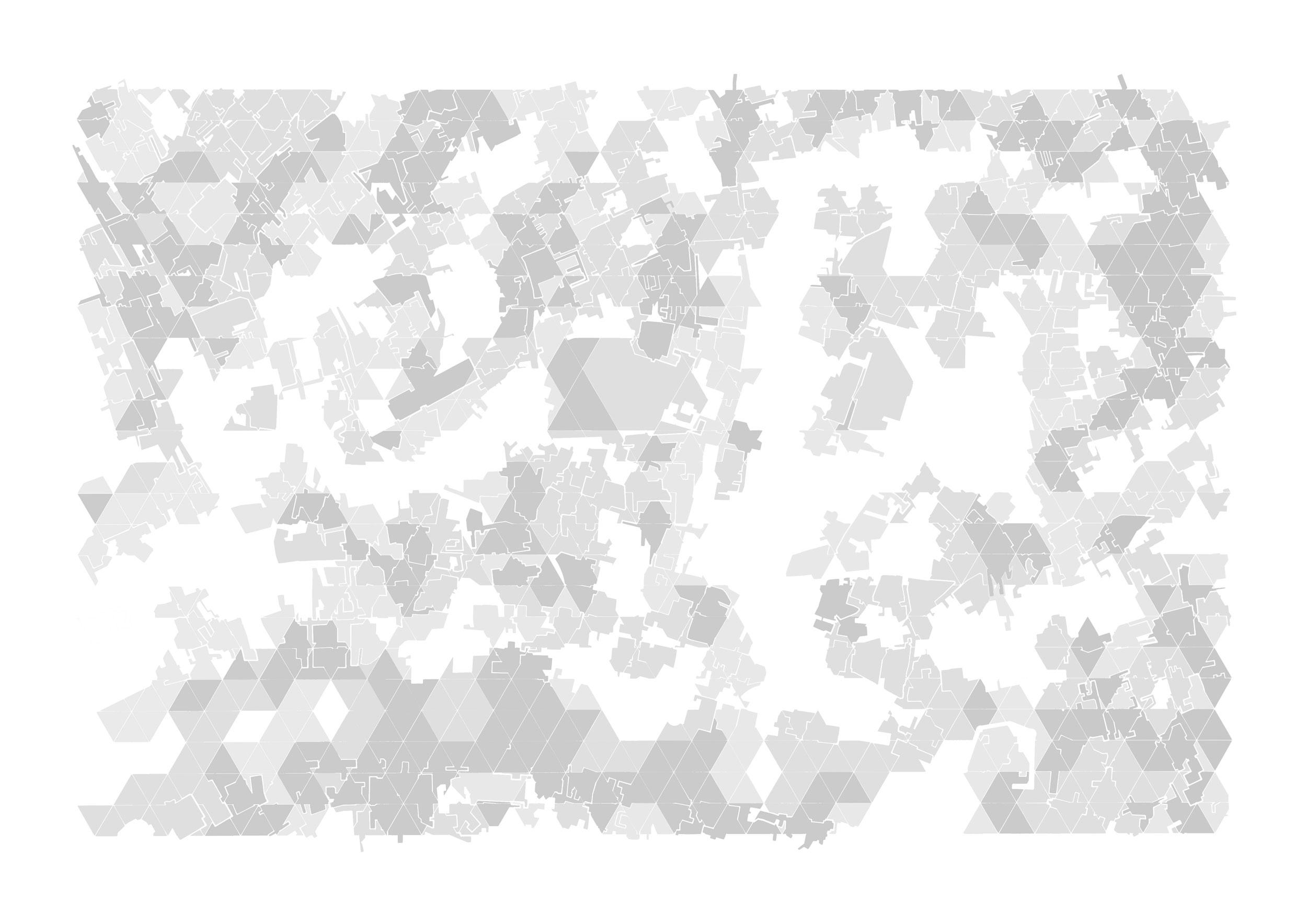 City Of Blocks 3 (2017) - 841 x 594mm, digitally processed hand drawing