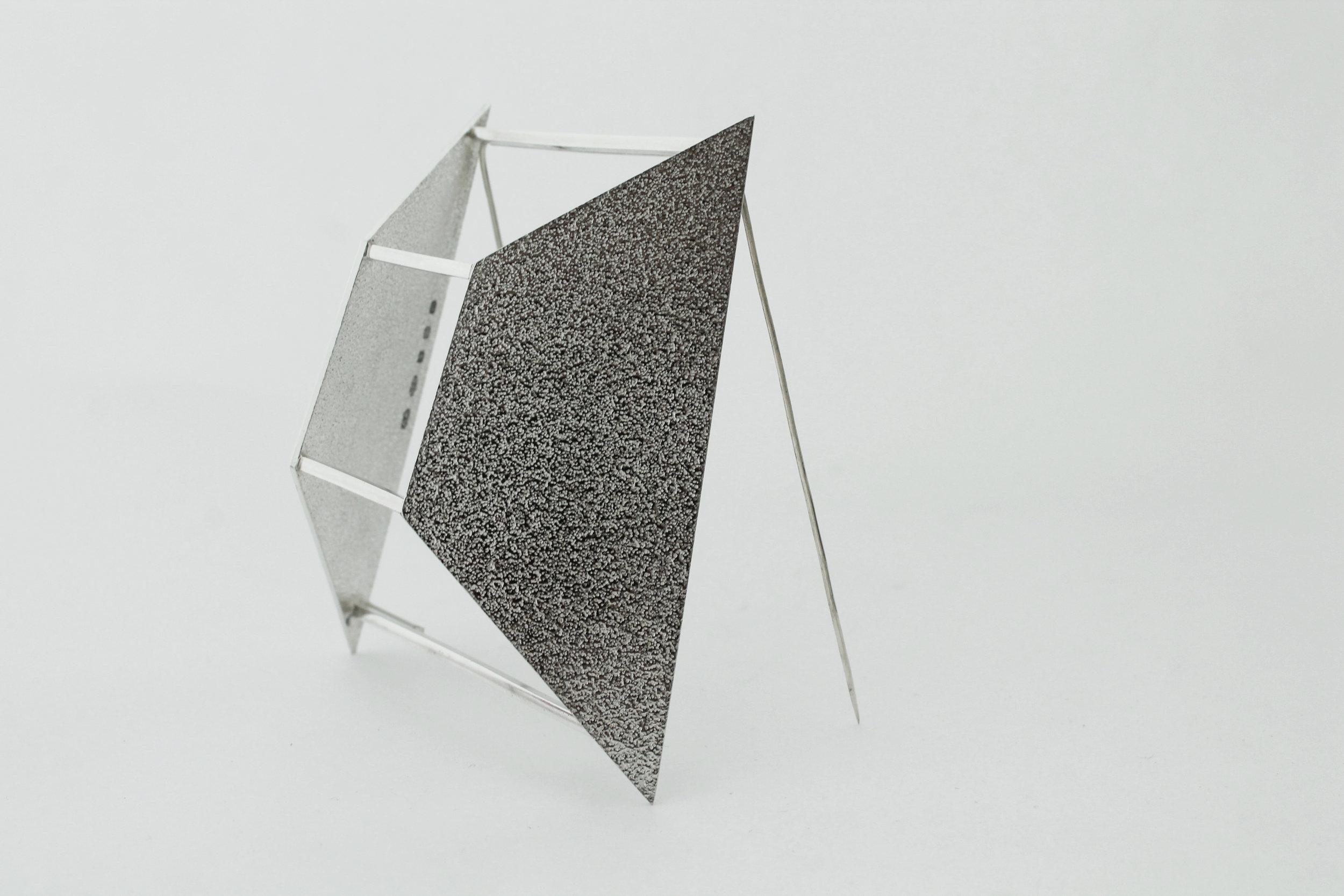 Textured Sterling Silver Brooch