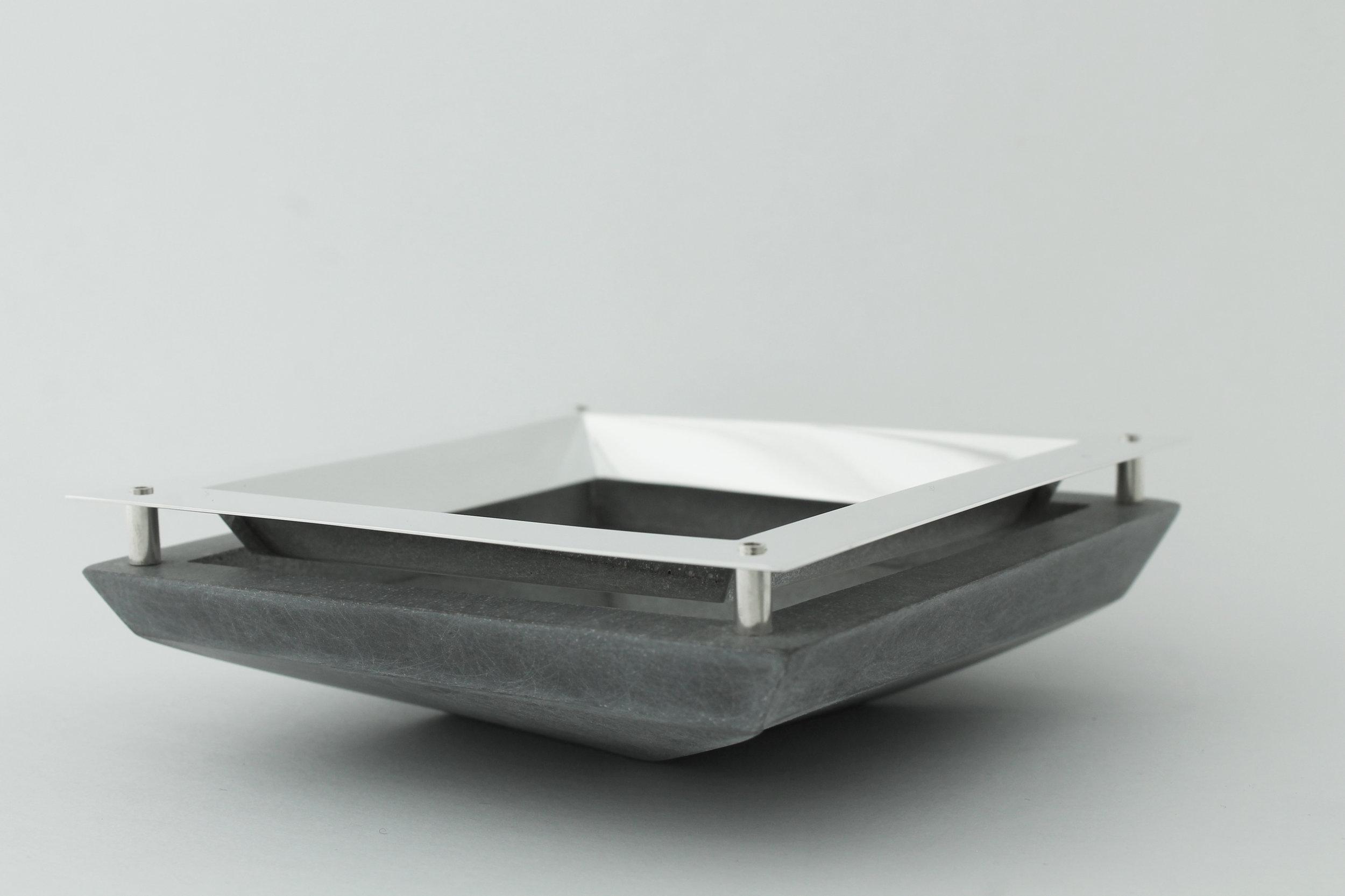 Sterling Silver and Grey Jesmonite Bowl