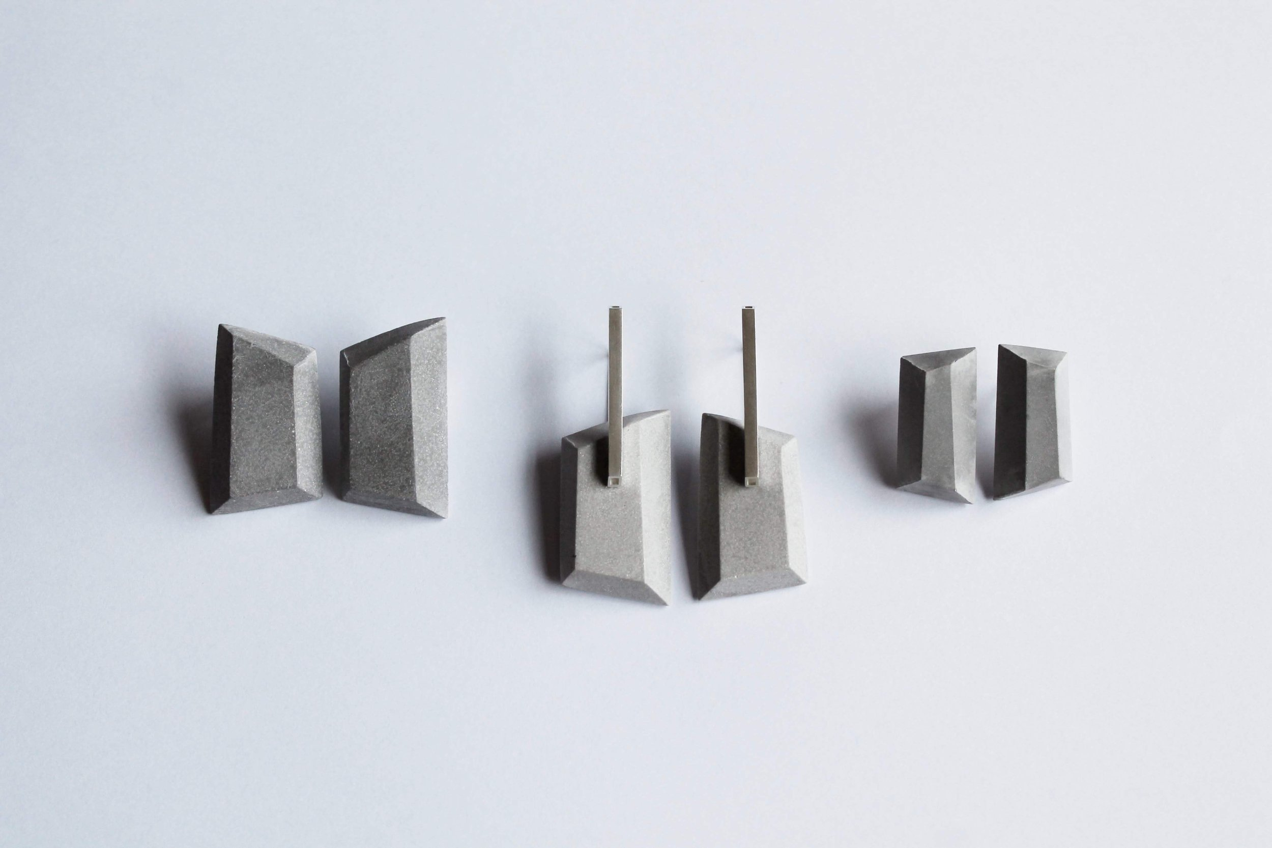 Trio of Statement 'Facet' Earrings