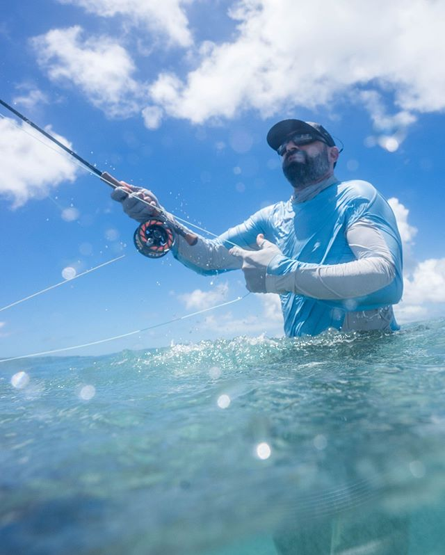 @cookcranebow bobbing in the surf, chasing trevallies.  @hatchoutdoors @simmsfishing