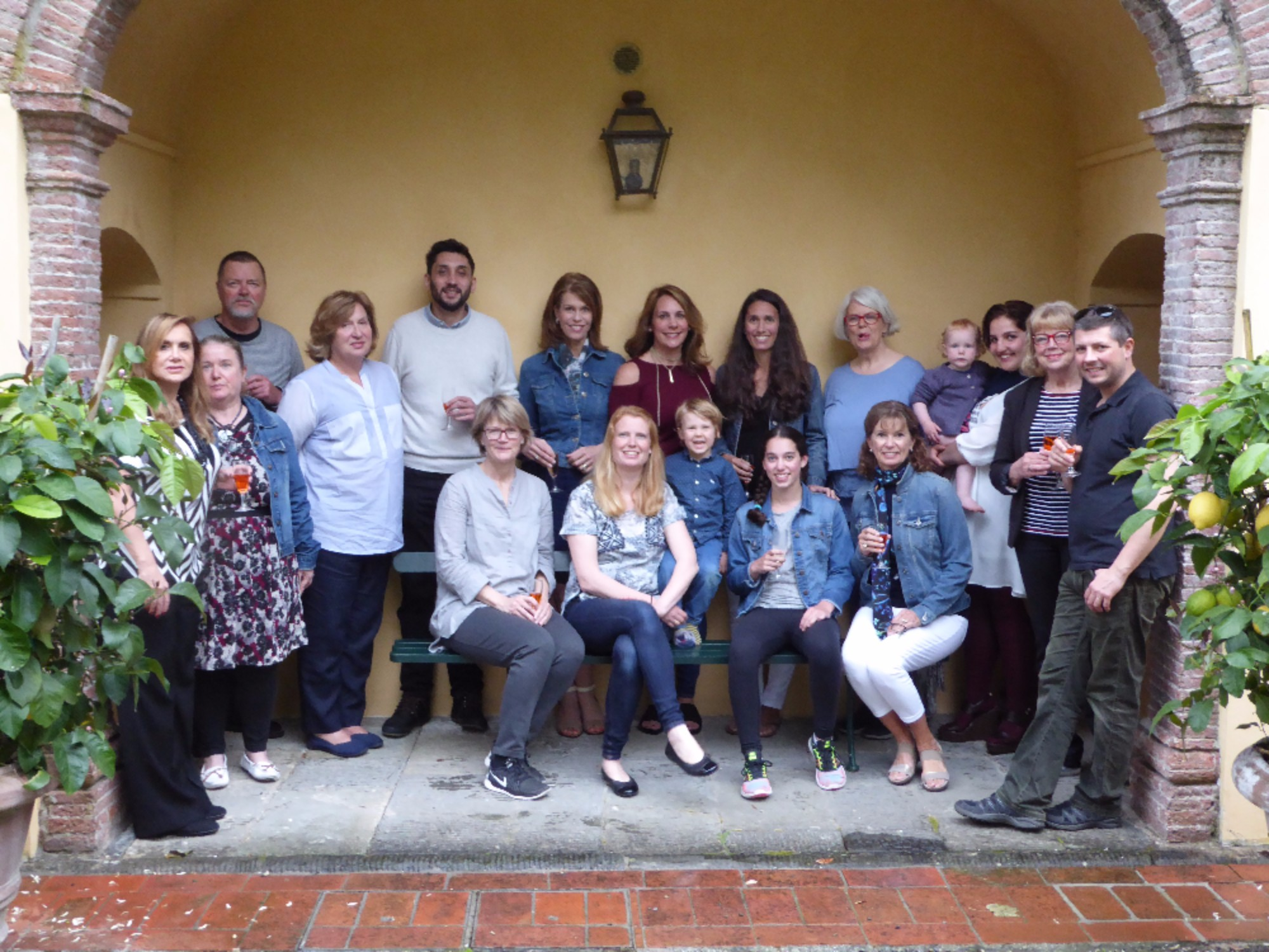 The guests and team for our Culinary Holiday in Tuscany 2017