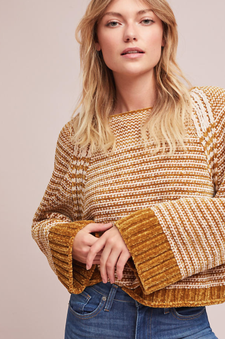 Oversized Chenille Striped Pullover $98