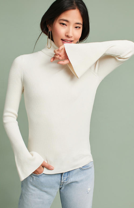 Knit Turtleneck Pullover $78