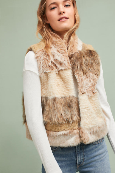 Mixed Faux Fur Vest $158