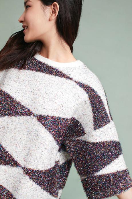 Sparkling Geo Sweater $128