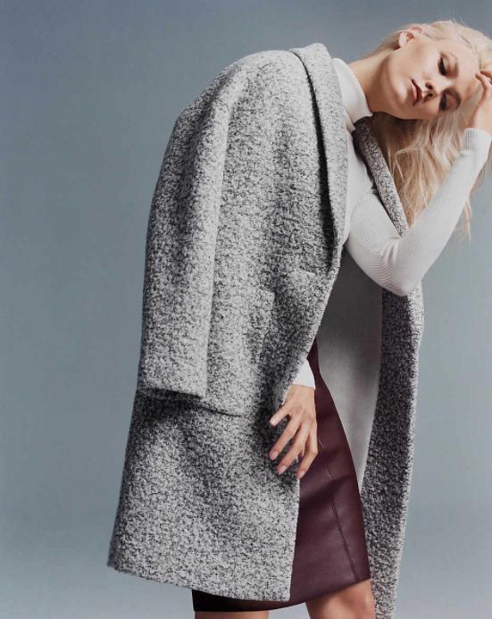 Wool Blend Cocoon Coat $114