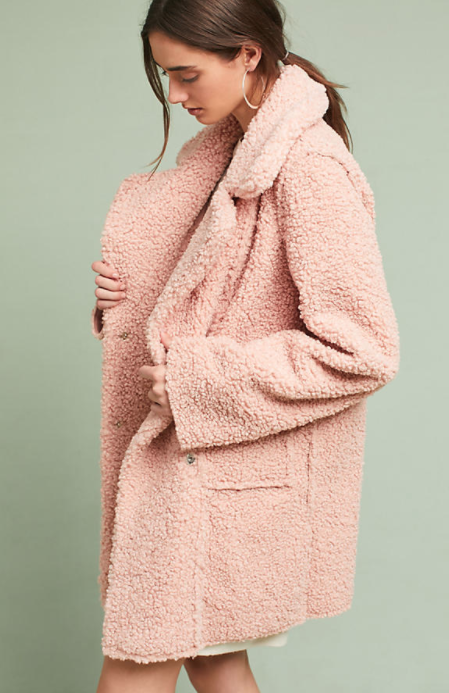 Blushed Sherpa Coat $178