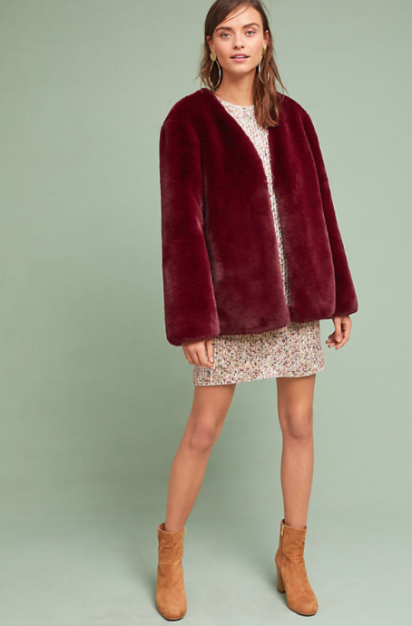 Jewel Faux Fur Coat $168