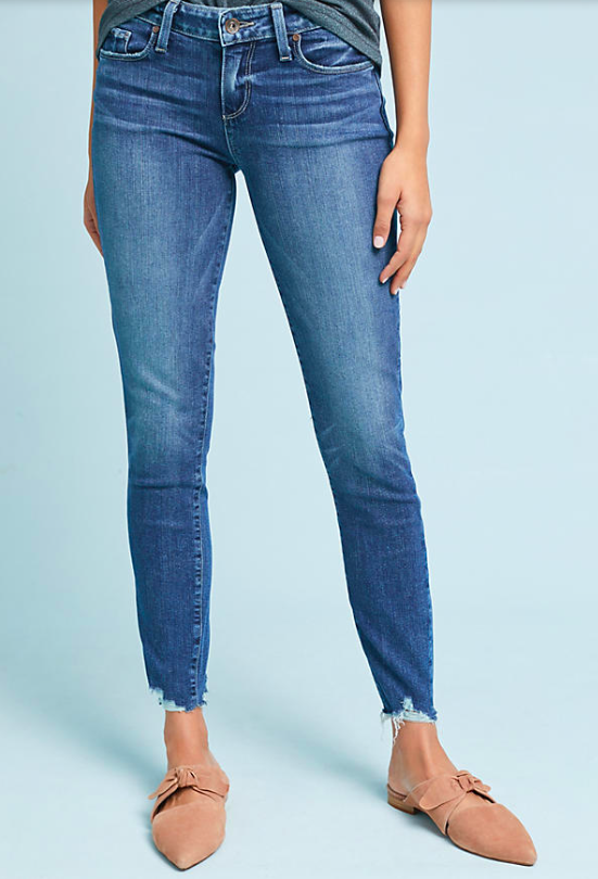 Paige Verdugo Mid Rise Skinny Cropped $219