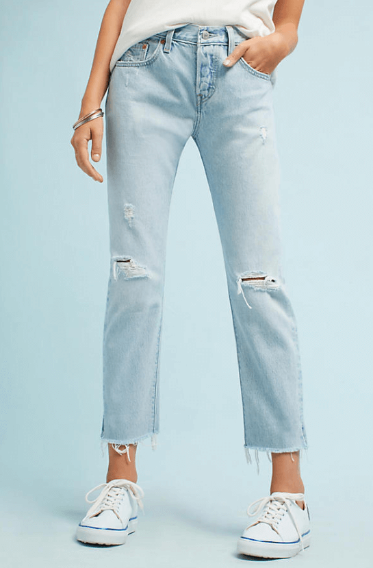 Levi's 501 Mid Rise Straight Jean $98